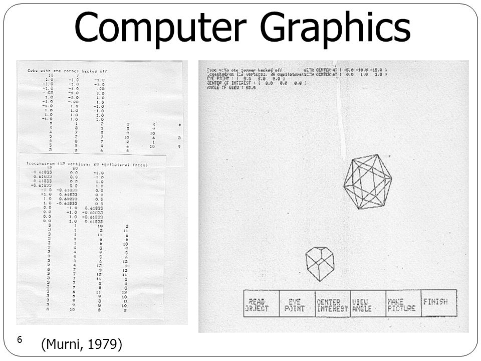 7 Computer Graphics (Hearn and Baker, 1986)