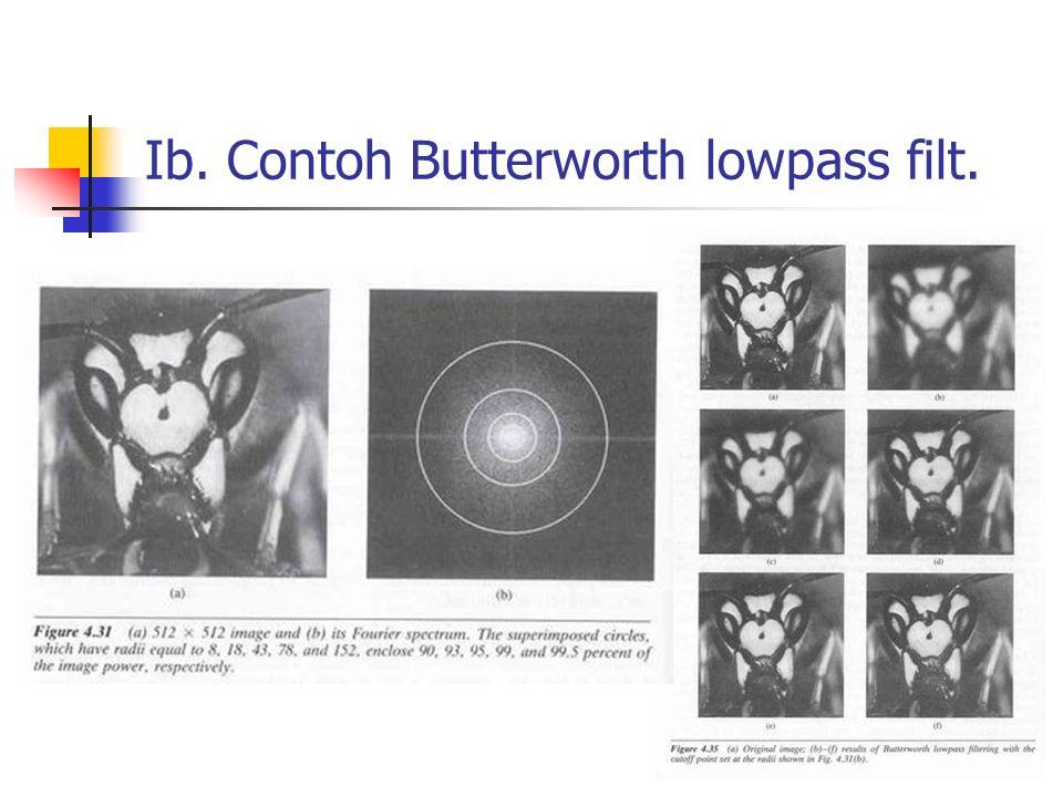 Ib. Contoh Butterworth lowpass filt.