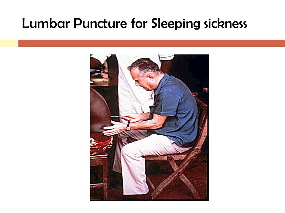 Lumbar Puncture for Sleeping sickness