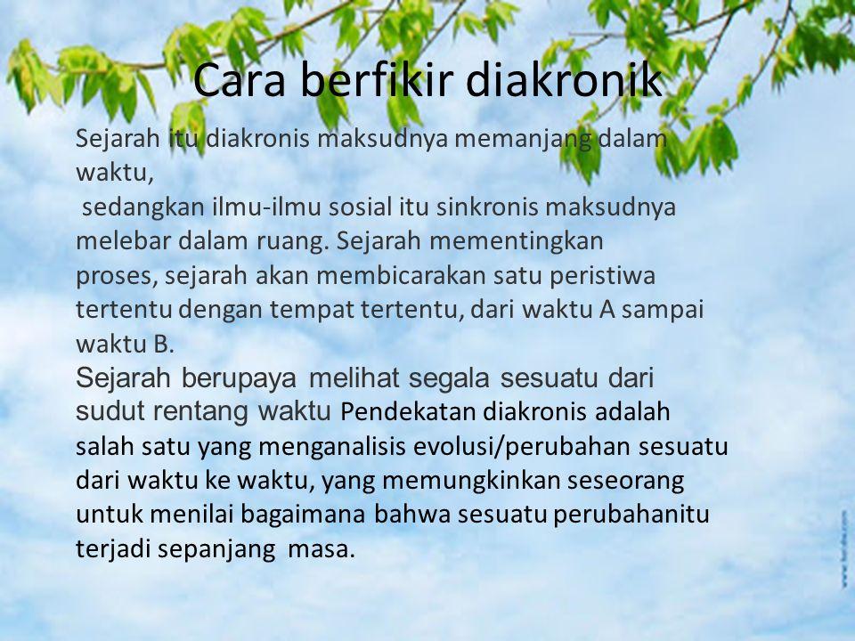 Contoh : Perkembangan Sarekat Islam di Solo, 1911-1920 Terjadinya Perang Diponegaro, 1925- 1930; Revolusi Fisik di Indonesia, 1945- 1949; Gerakan Zionisme 1897-1948 dan sebagainya.