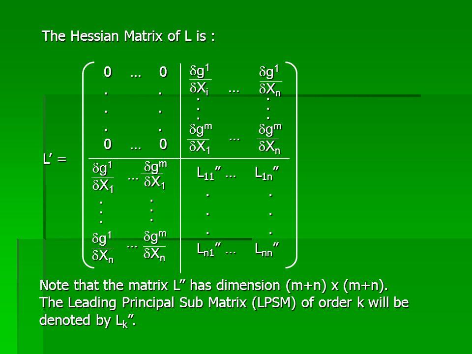 """Note that the matrix L'' has dimension (m+n) x (m+n). The Leading Principal Sub Matrix (LPSM) of order k will be denoted by L k """". L' = L 11 """" … L 1n"""