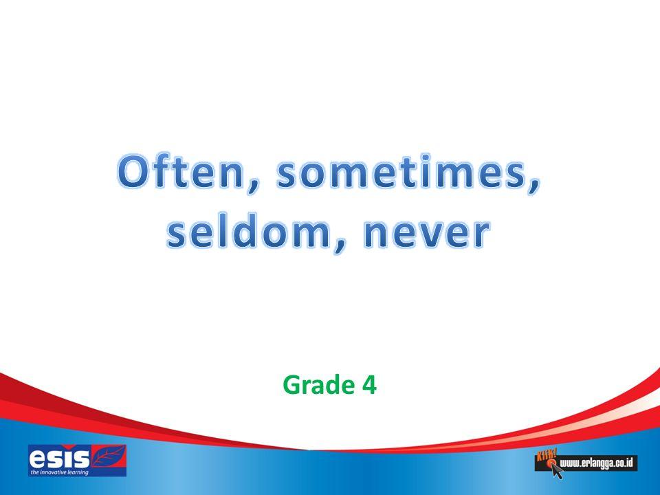 Menunjukkan seberapa sering seseorang melakukan sesuatu Menjawab pertanyaan How often? – often = sering – sometimes = kadang-kadang – seldom = jarang – never = tidak pernah