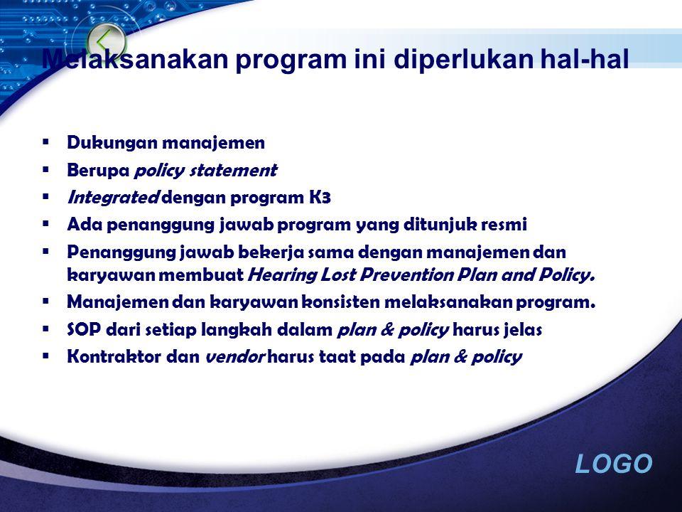LOGO PROGRAM PENCEGAHAN/ PROGRAM KONSERVASI PENDENGARAN 1.