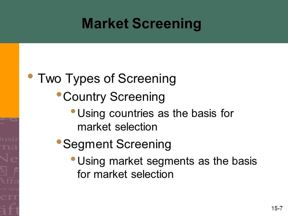 15-18 Fifth Screening: Competitive Forces, cont'd.