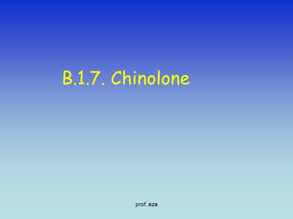 B.1.7. Chinolone prof. aza