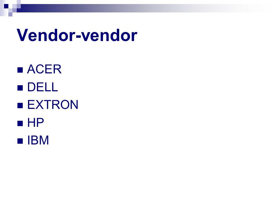 Vendor-vendor ACER DELL EXTRON HP IBM