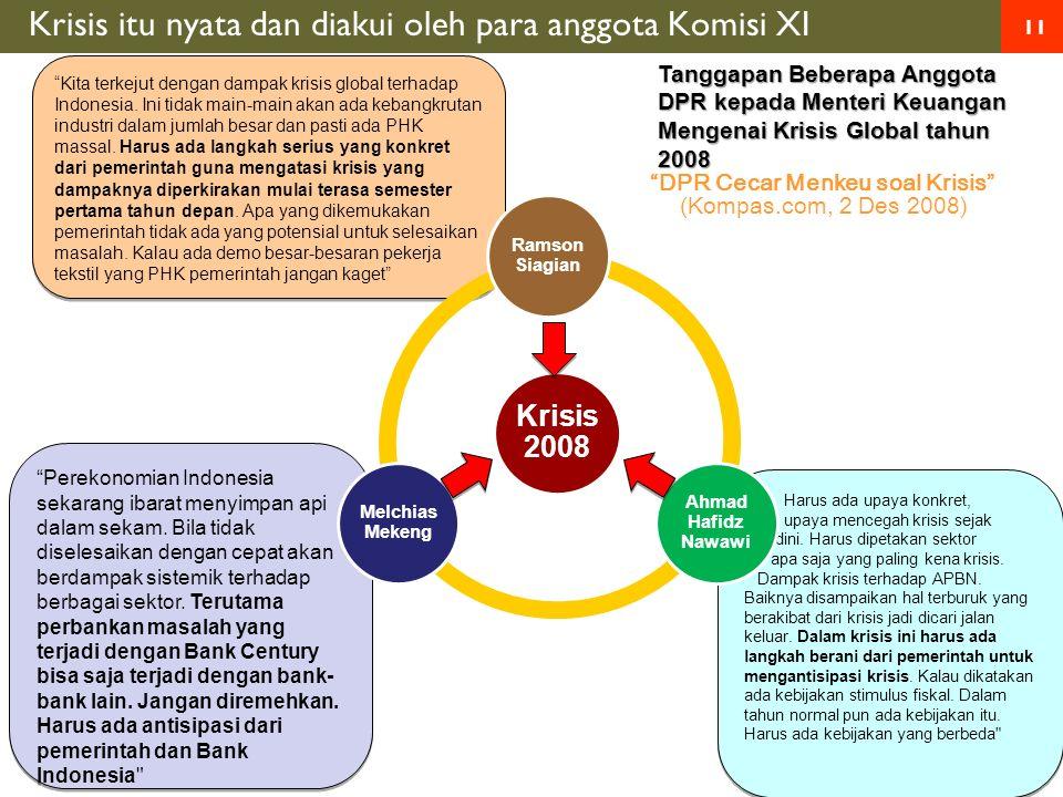 11 Kita terkejut dengan dampak krisis global terhadap Indonesia.