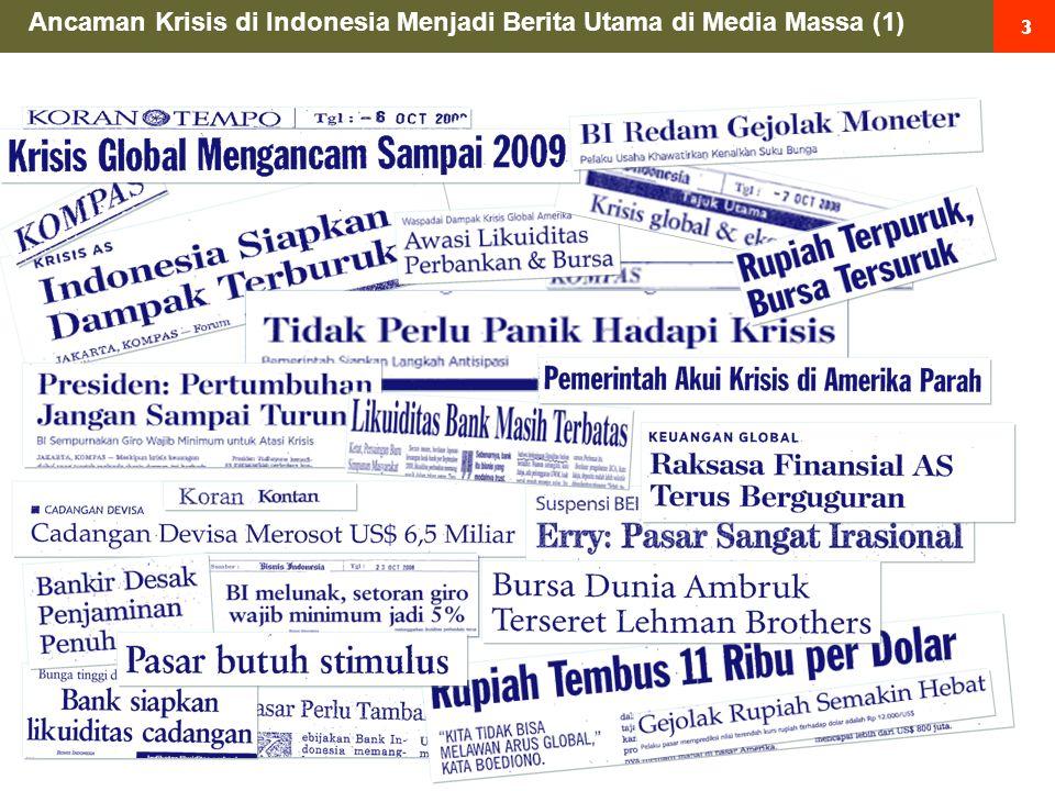 14 DJI: Dow Jones FTSE : London JKSE: Jakarta Industrial Composite N225: Nikkei 225 HSI : Hangseng Krisis Global 2008 : Indeks Saham di Berbagai Negara anjlok