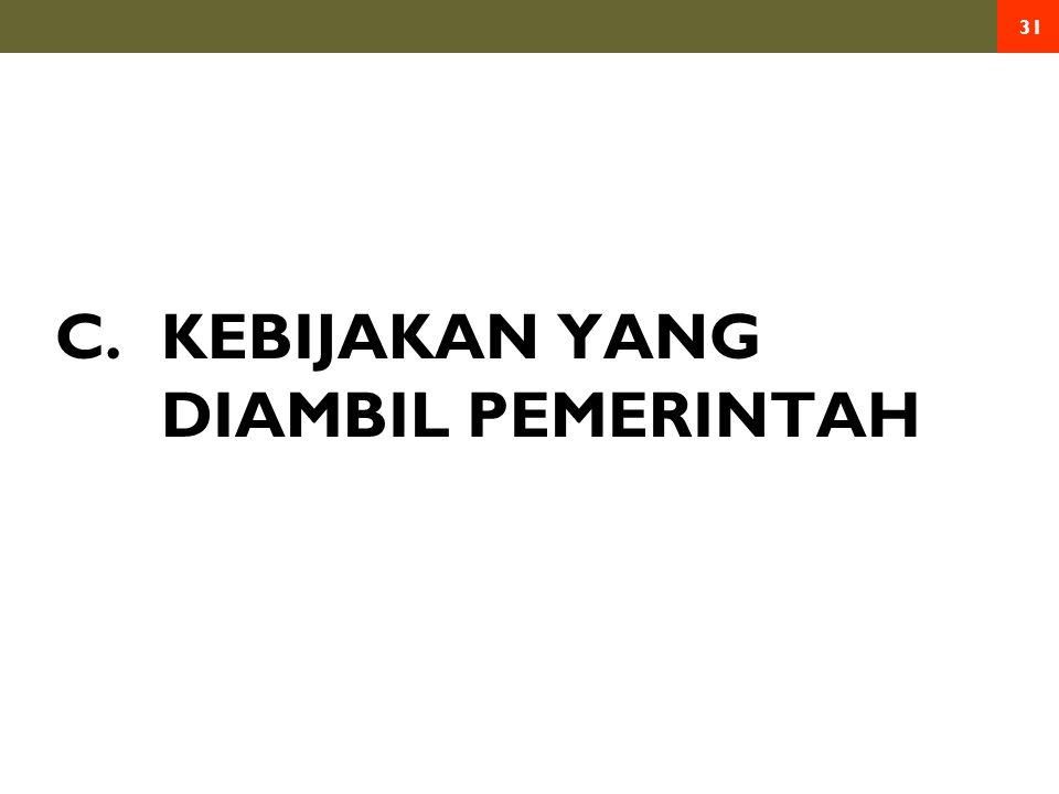 C. KEBIJAKAN YANG DIAMBIL PEMERINTAH 31