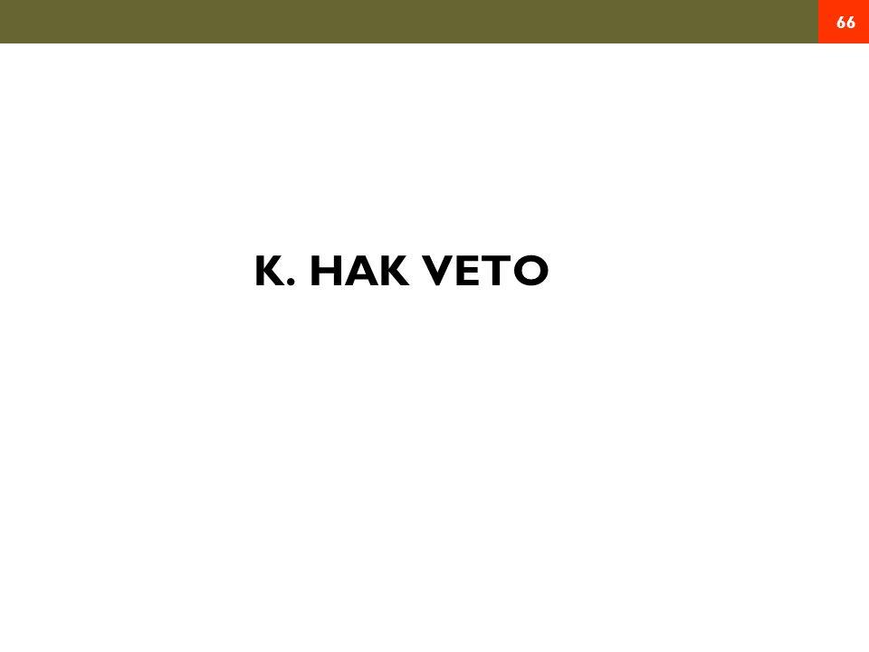 K. HAK VETO 66