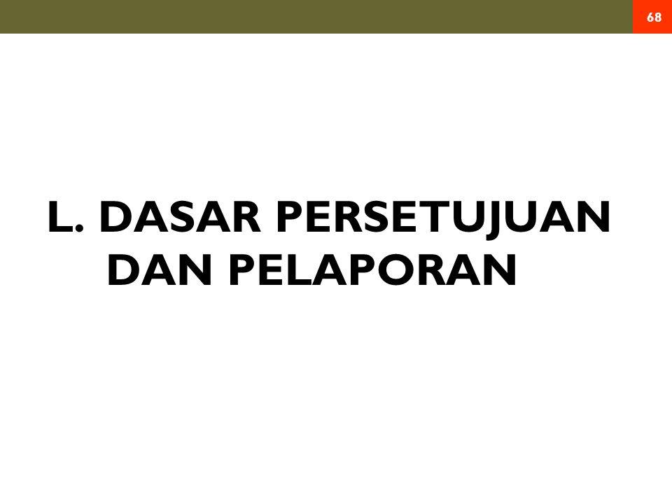 L. DASAR PERSETUJUAN DAN PELAPORAN 68