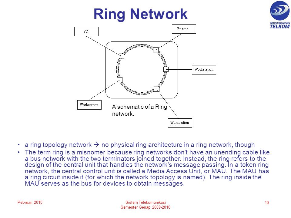 Ring Network A schematic of a Ring network.