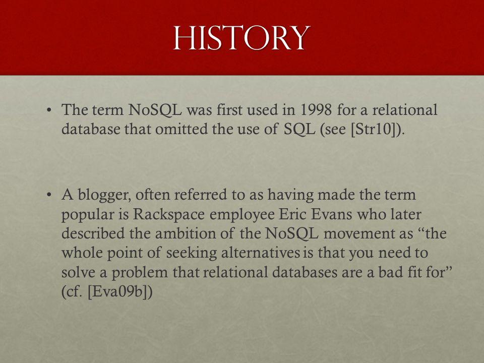 Key Events on NoSQL Timeline Taken from Dan McCreary (2013)
