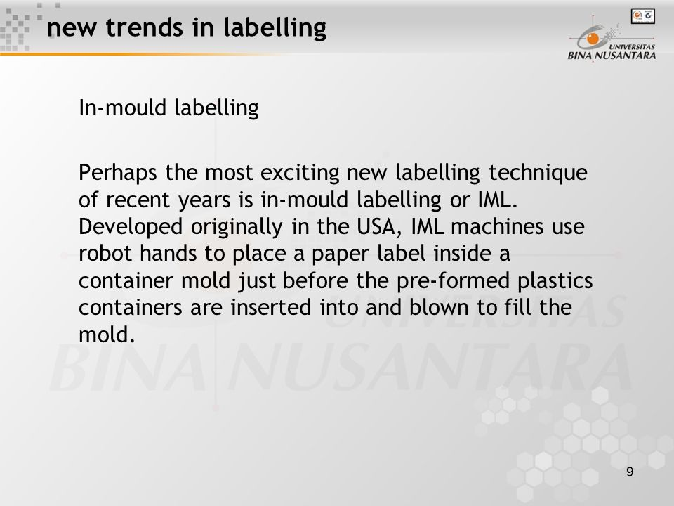 10 new trends in labelling Leatflet Labels Another important trend in labelling is epitomized by the leatflet-type of label known as Fix a Form a Deny.
