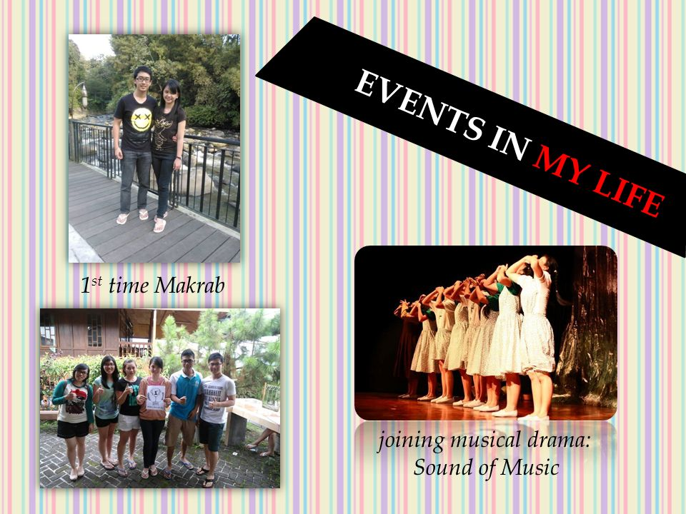 E V E N T S I N M Y L I F E 1 st time Makrab joining musical drama: Sound of Music