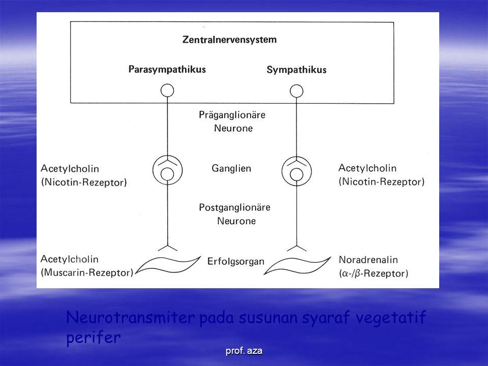 Neurotransmiter pada susunan syaraf vegetatif perifer prof. aza