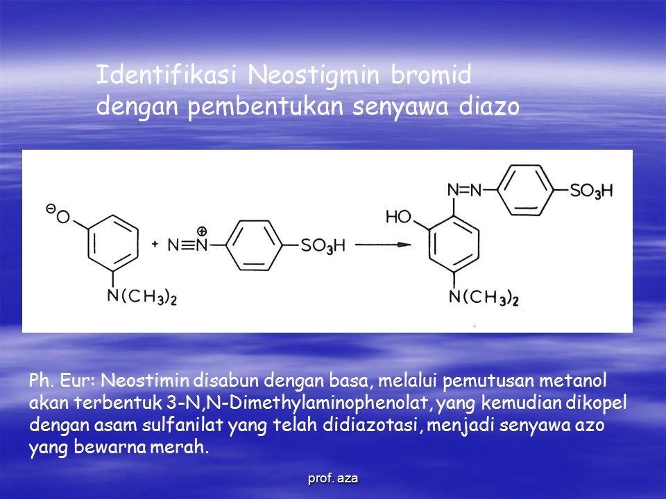 Identifikasi Neostigmin bromid dengan pembentukan senyawa diazo Ph.