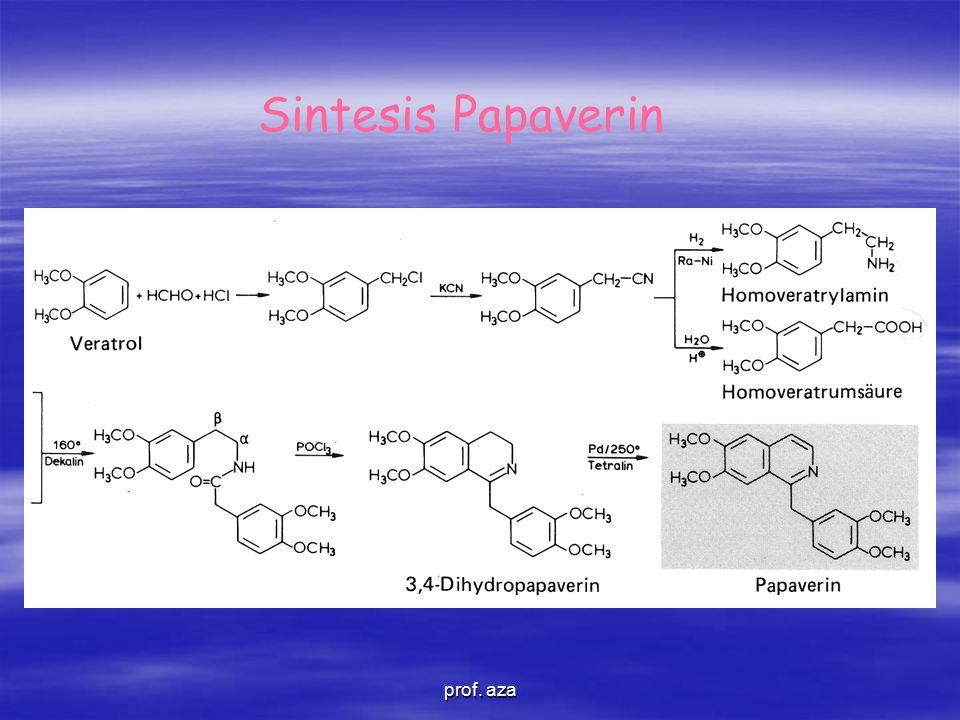 Sintesis Papaverin prof. aza