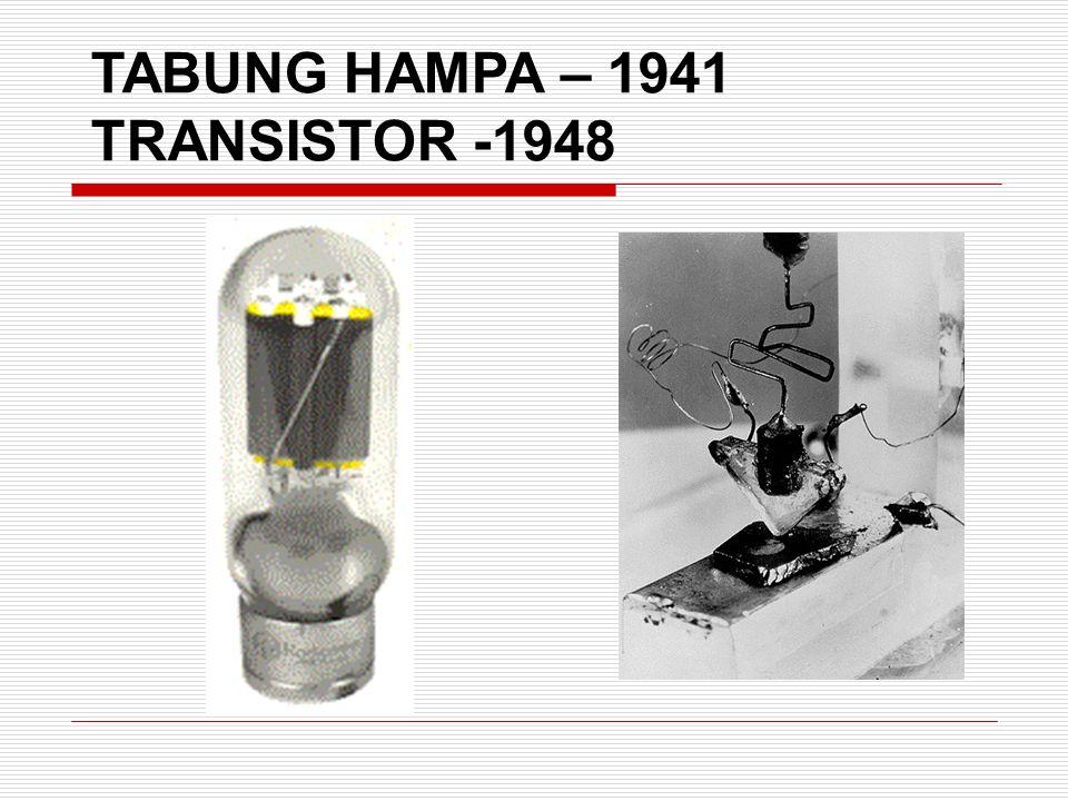 TABUNG HAMPA – 1941 TRANSISTOR -1948