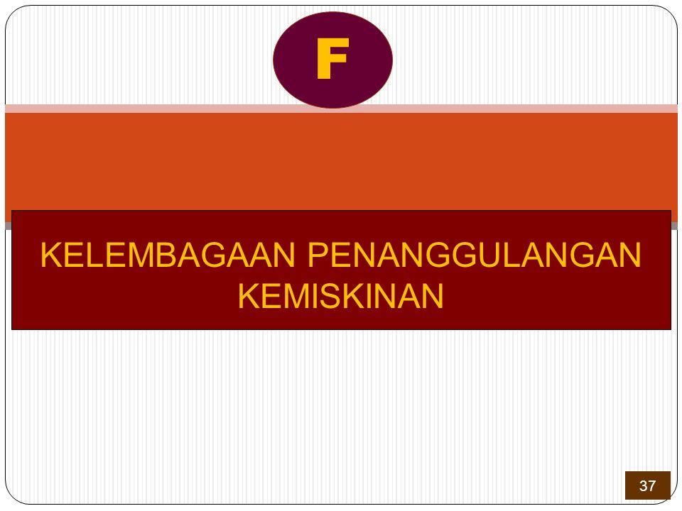 KELEMBAGAAN PENANGGULANGAN KEMISKINAN F 37