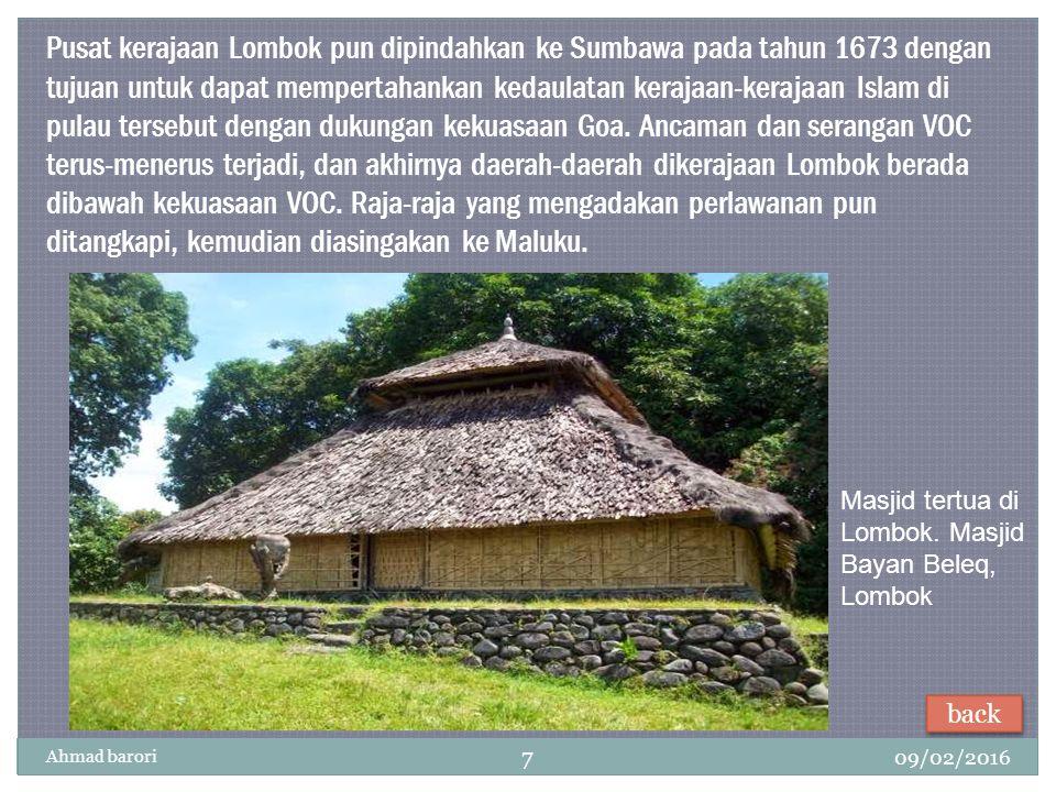 09/02/2016 Ahmad barori 7 Masjid tertua di Lombok.
