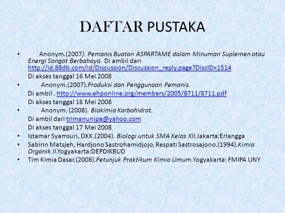 DAFTAR PUSTAKA Anonym.(2007).