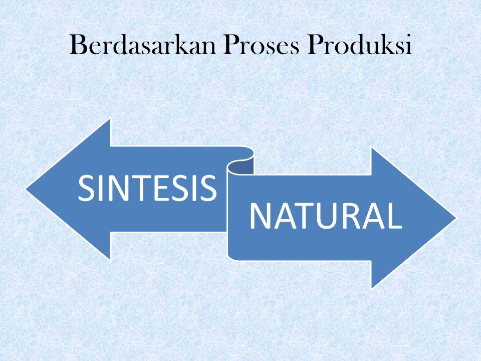 Berdasarkan Proses Produksi SINTESIS NATURAL