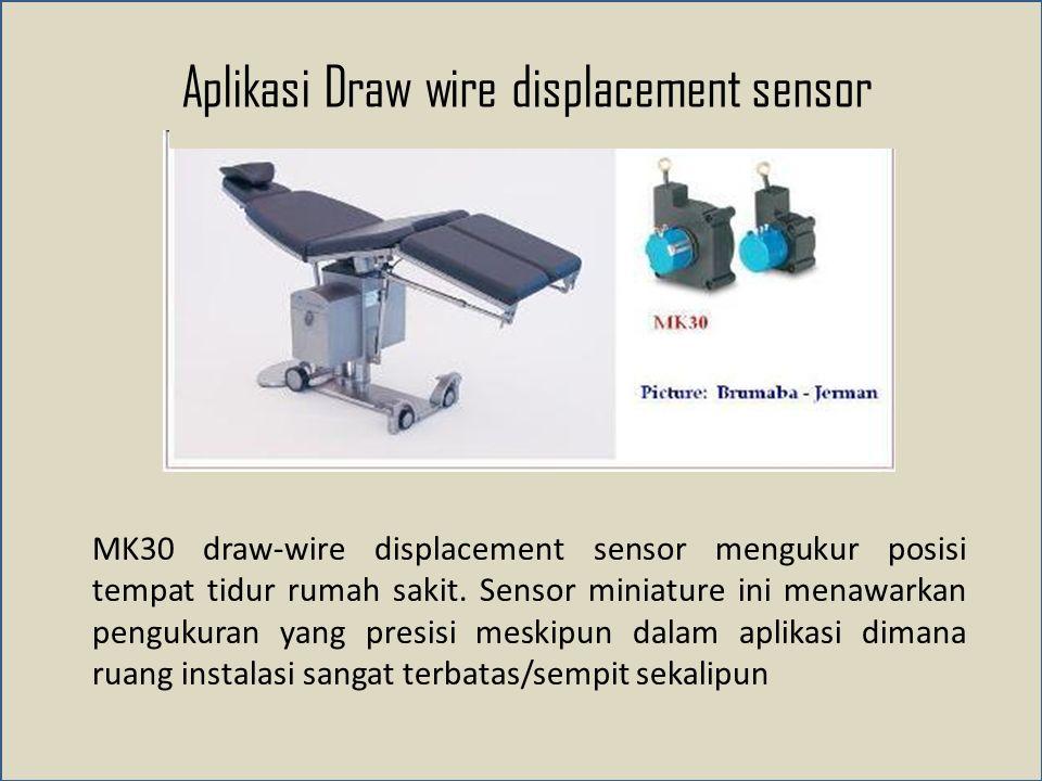 Aplikasi Draw wire displacement sensor MK30 draw-wire displacement sensor mengukur posisi tempat tidur rumah sakit.