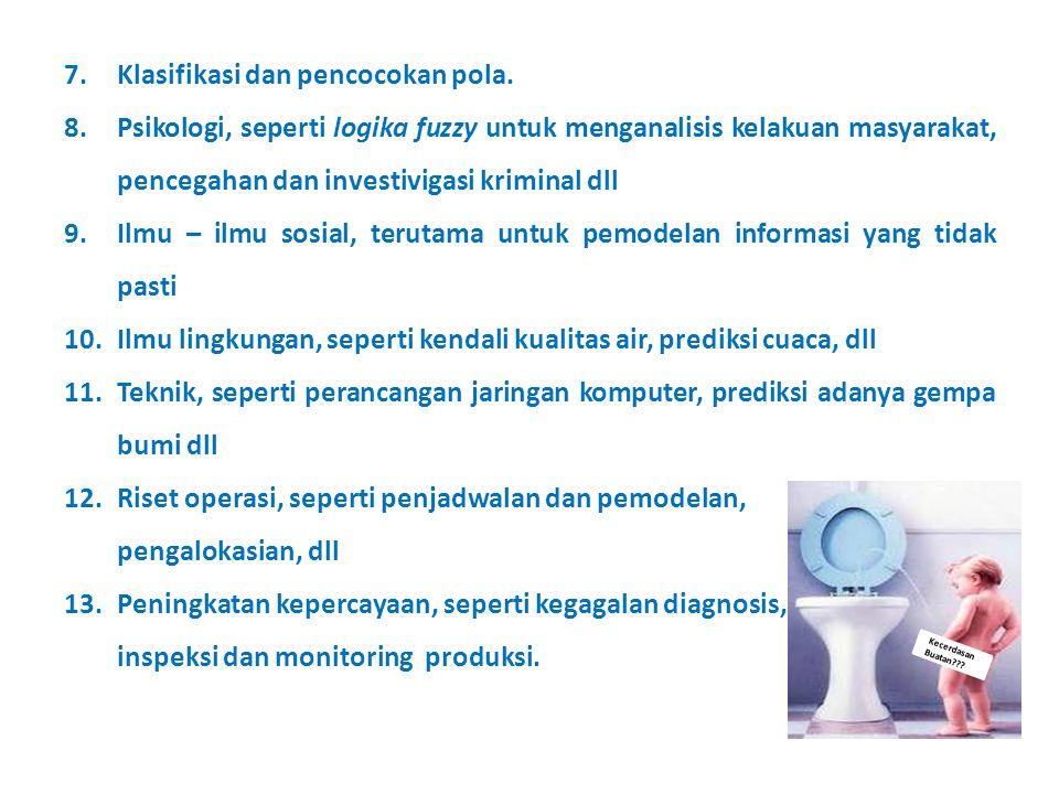 Kecerdasan Buatan??.7.Klasifikasi dan pencocokan pola.
