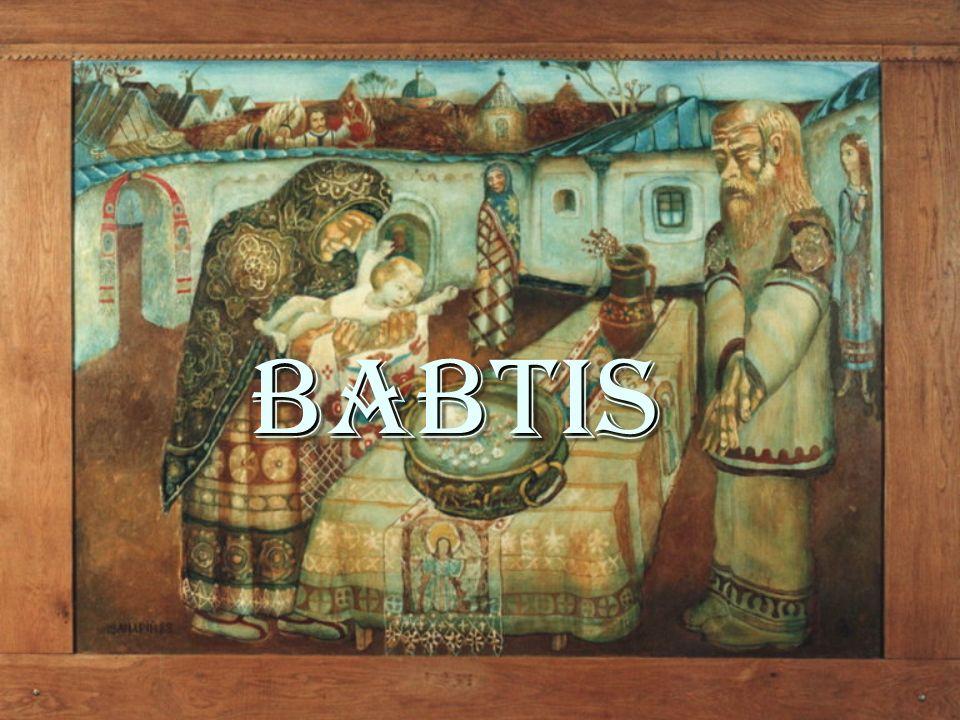 Pengertian Etimologis : Etimologis : babtis = babtizein ( Yunani) = mencelupkan atau membenamkan Pencelupan ini dilakukan kedalam air.