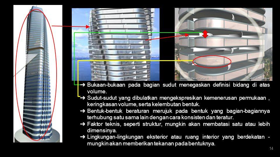 DENAH PEMECAHAN STRUKTUR DAN KONSTRUKSI ESTETIKA Keindahan struktur terletak pada kantilever ketika berputar mengelilingi core. Dengan menampilakan be