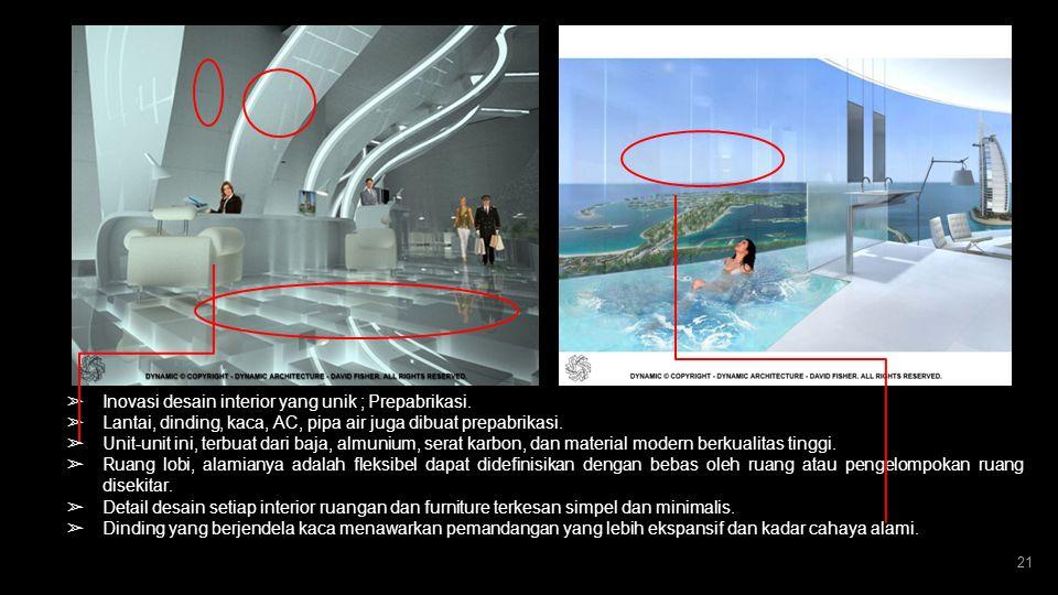 20 ➢ Gedung yang mampu menghasilkan energi listrik dari dirinya sendiri. melalui tenaga matahari dan turbin. ERA BARU BANGUNAN HIJAU ( ECOGREEN ) ➢ Te