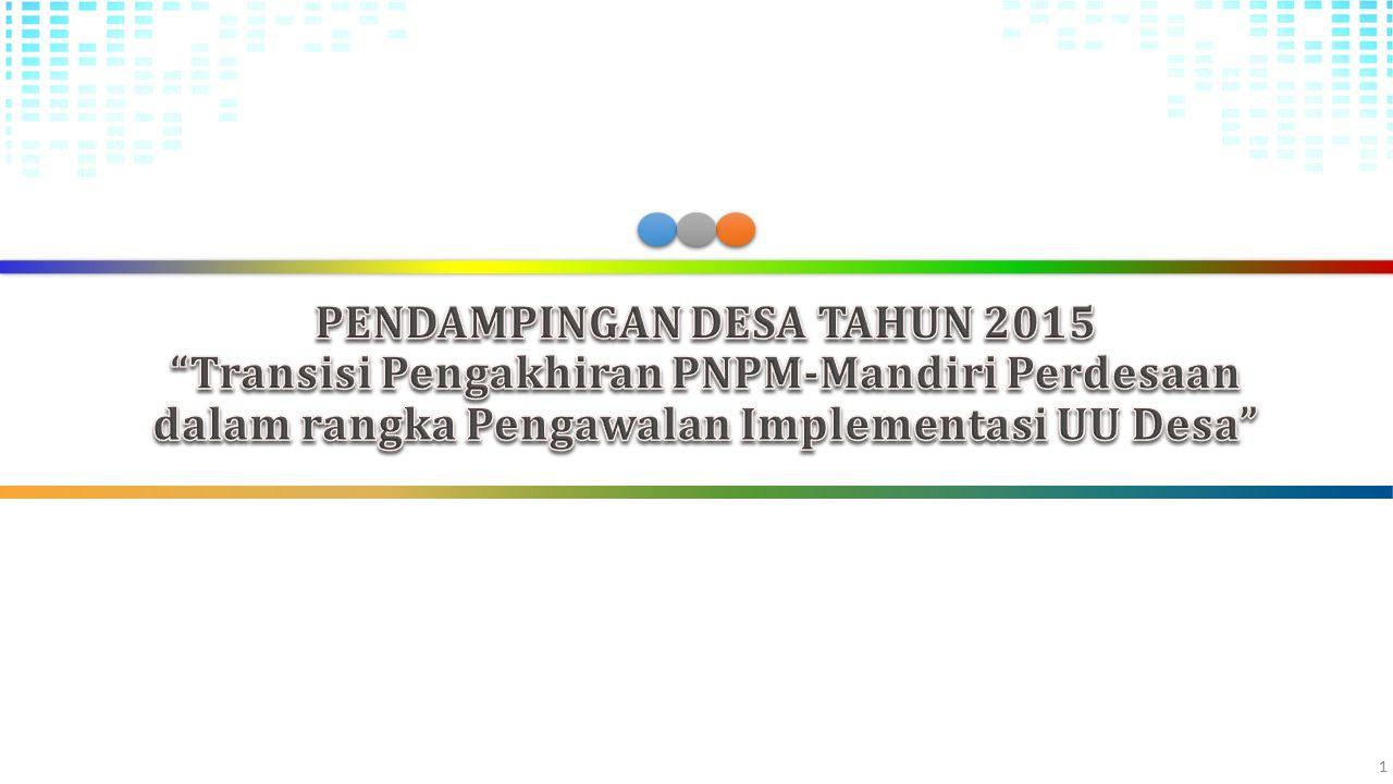PENDAMPINGAN DESA (Permendesa, PDT dan Transmigrasi No.