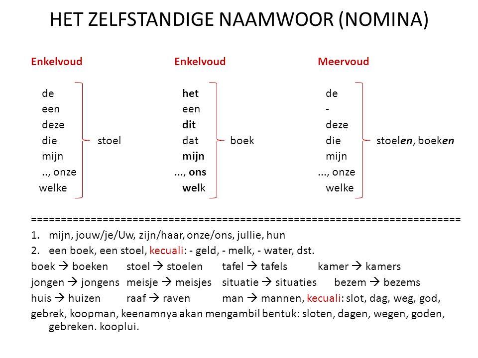 MENGAMBIL BENTUK STAM DARI INFINITIEF Bentuk verba yang belum mengalami perubahan dalam bahasa Belanda disebut bentuk infinitif.