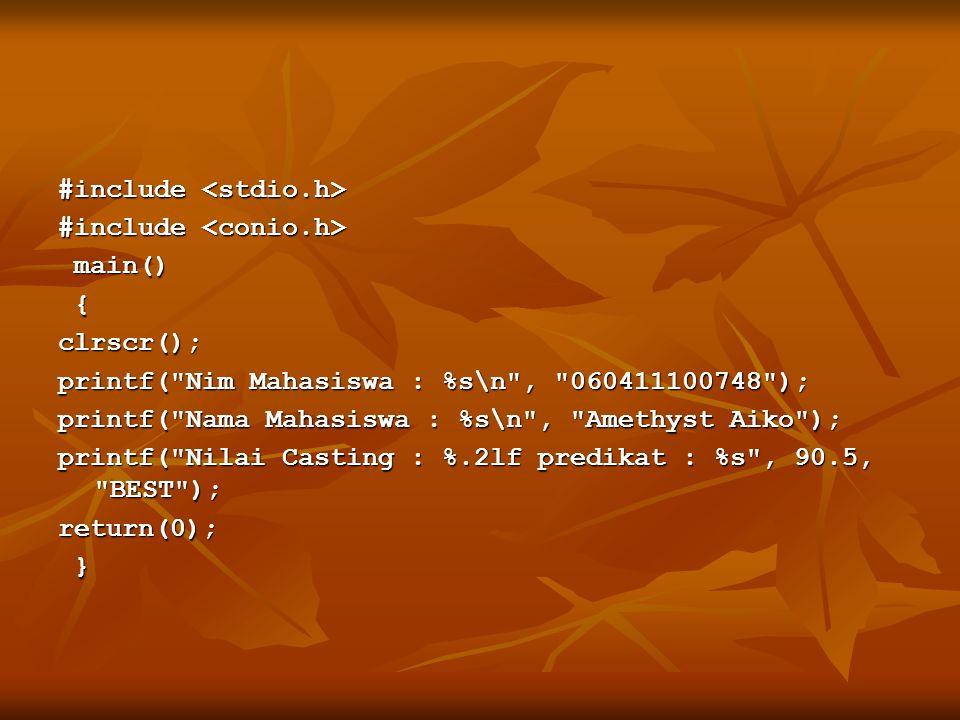 #include #include main() main() {clrscr(); printf(
