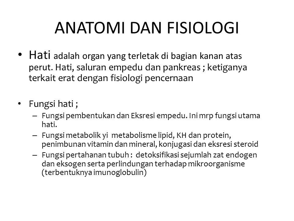 ANATOMI DAN FISIOLOGI Hati adalah organ yang terletak di bagian kanan atas perut.