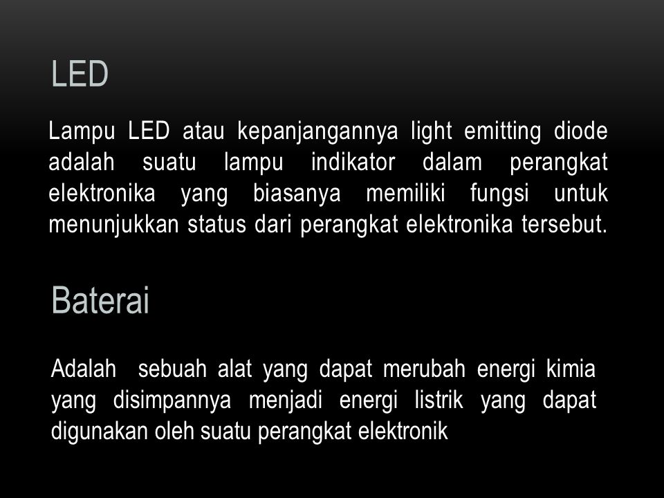 Rangkaian lampu flip-flop, LED rangkaian lampu flip-flop ini merupakan rangkaian free running multifibrator yang diberikan beban berupa LED pada setiap sisi transisi perubahan sinyal outputnya.