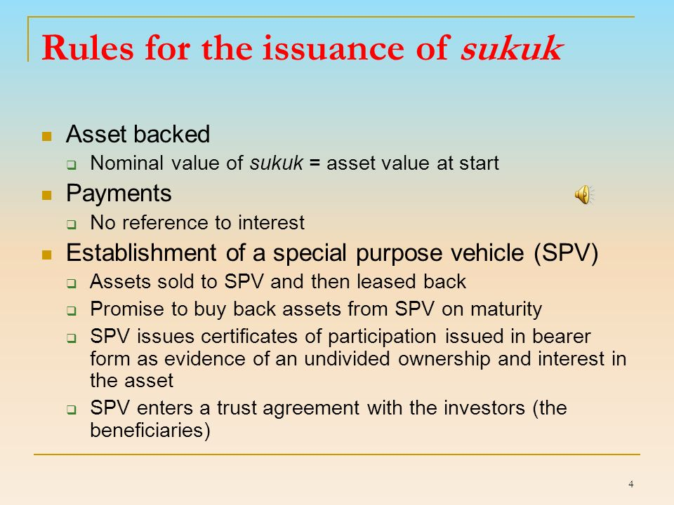 Sukuk Accounting in Indonesia, based on PSAK No. 110 / 2011 1.