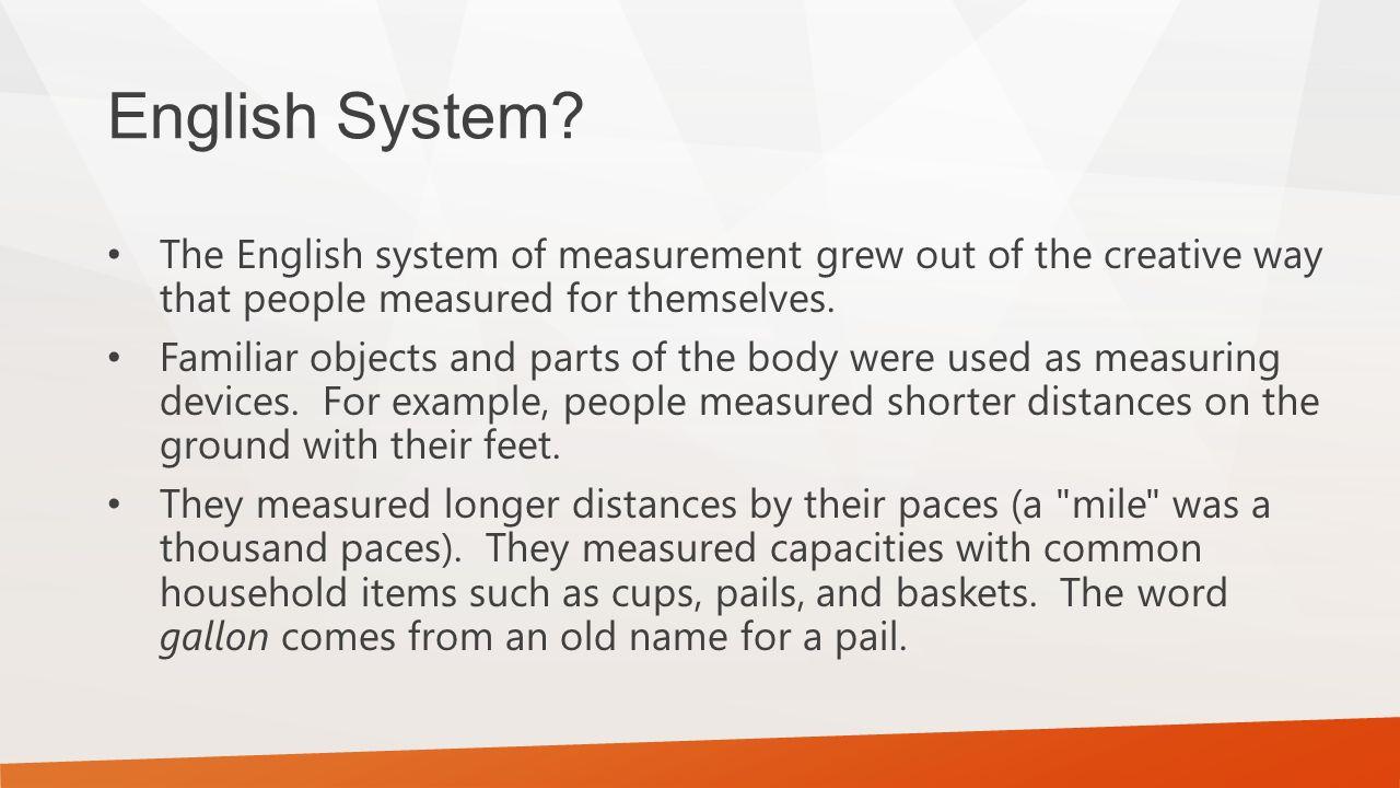English System.