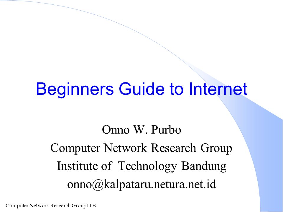 Computer Network Research Group ITB Internet FAX