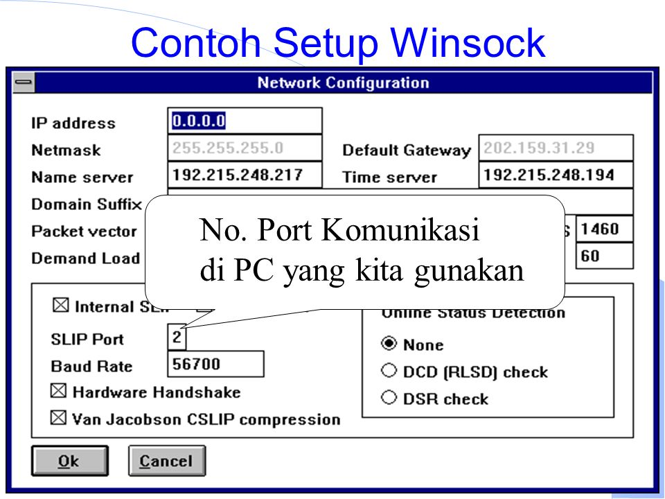 Computer Network Research Group ITB Contoh Setup Winsock No.