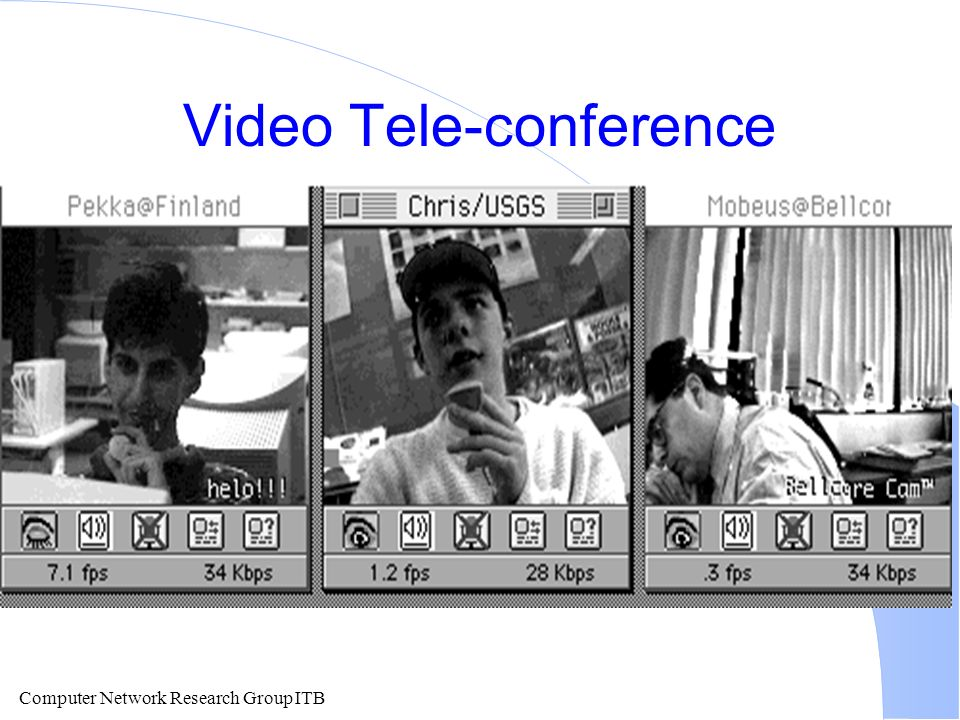 Computer Network Research Group ITB Video Tele-conference
