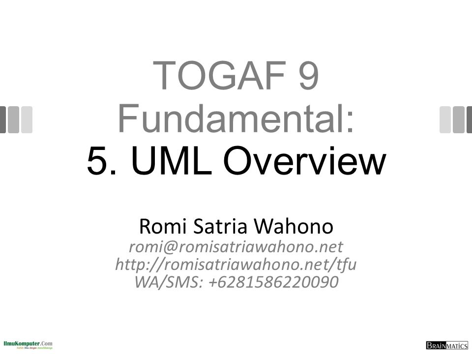 TOGAF 9 Fundamental: 5.
