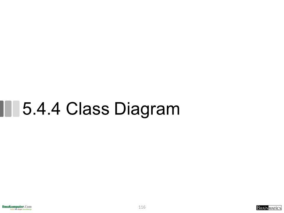 5.4.4 Class Diagram 116