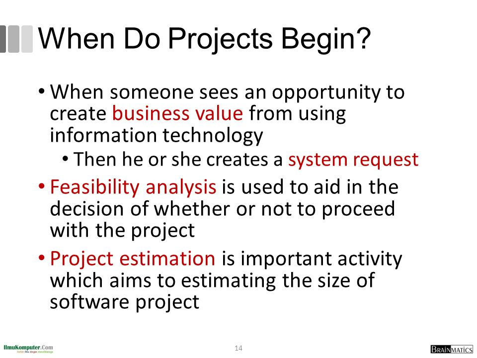 When Do Projects Begin.