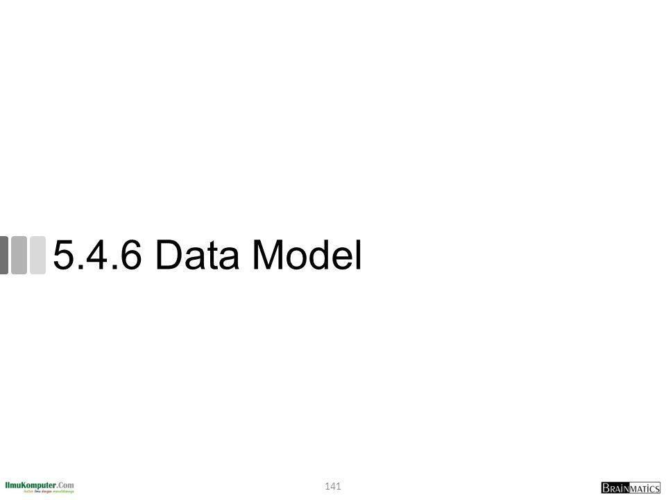 5.4.6 Data Model 141