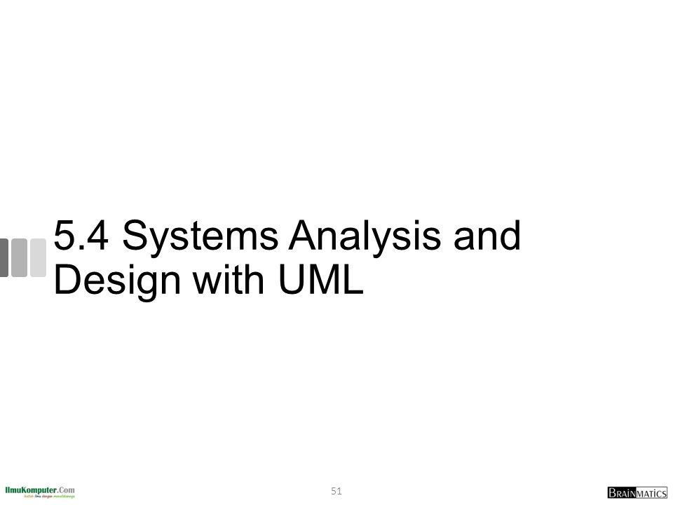 5.4 Systems Analysis and Design with UML 51