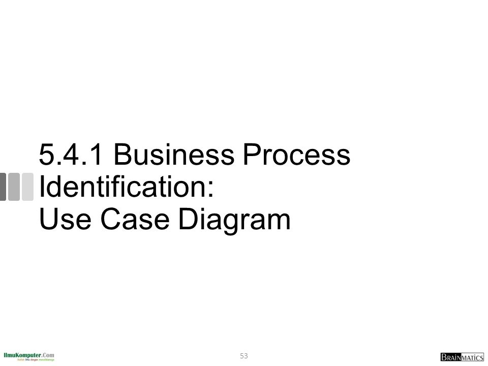 5.4.1 Business Process Identification: Use Case Diagram 53