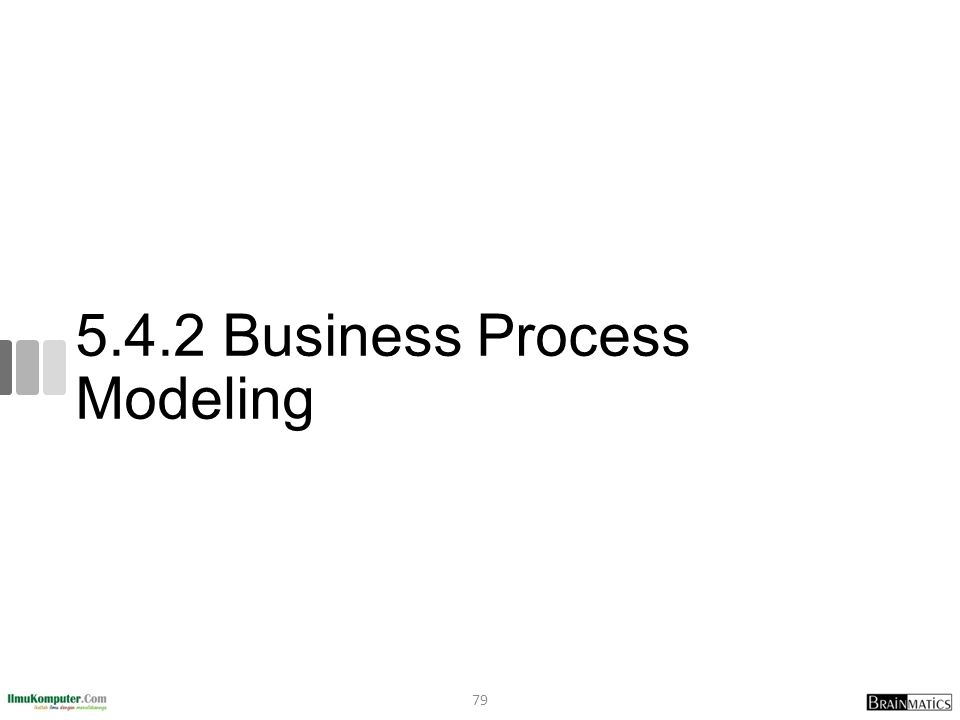 5.4.2 Business Process Modeling 79