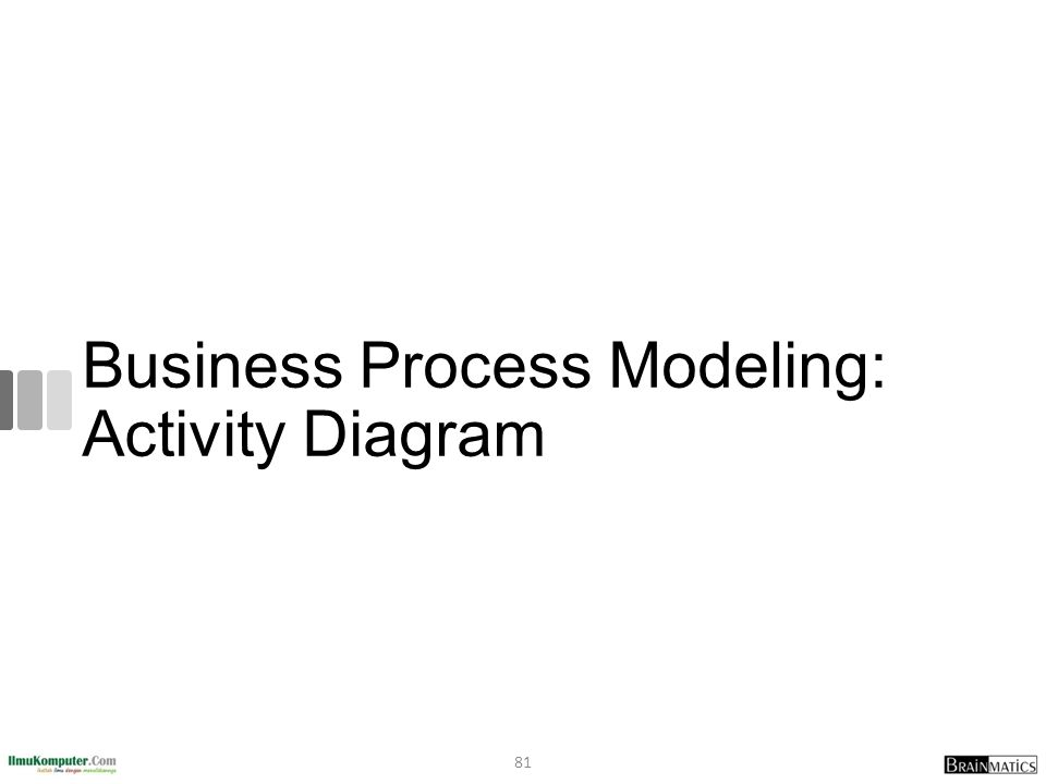 Business Process Modeling: Activity Diagram 81